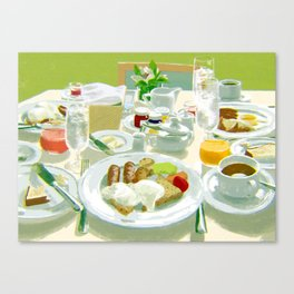 Breakfast at a Hotel Canvas Print