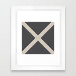 Nautical Flag - Letter M (Charcoal Black, Cream) Framed Art Print