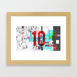 Day 0990 /// Welcome Compression Framed Art Print