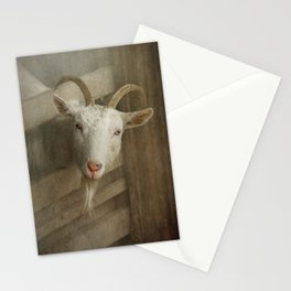 The curious goat Stationery Cards