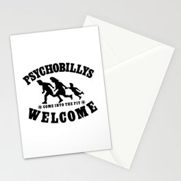 PSYCHOBILLYS WELCOME - COME INTO THE PIT Stationery Cards