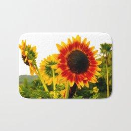 Sunflower Garden Bath Mat