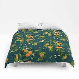 Citrus Tree - Navy Comforters