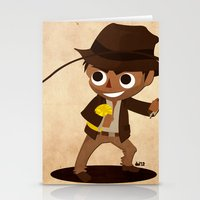 indiana jones Stationery Cards featuring Indiana Jones by Delucienne Maekerr