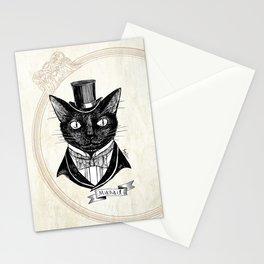 Black cat / Mikhail Stationery Cards