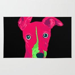 italian greyhound - blk Rug