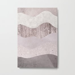 Abstract Wave Texture Metal Print