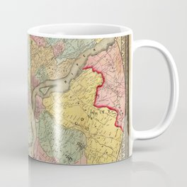 Map of Philadelphia 1849 Coffee Mug