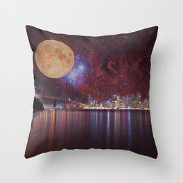 Strange Skys Throw Pillow