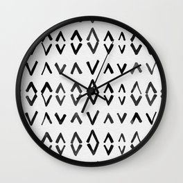 Scandinavian Diamond Pattern Wall Clock