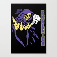 skeletor Canvas Prints featuring Skeletor  by Buby87