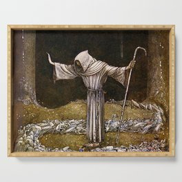 """Brother Martin"" Watercolor by John Bauer Serving Tray"