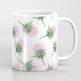 Pink thistel - Waterolor Coffee Mug
