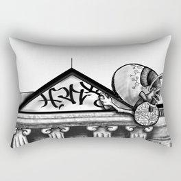 ..not so white.. Rectangular Pillow