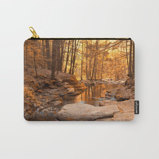 Worlds End Forest Stream - Gold Rapture Carry-All Pouch