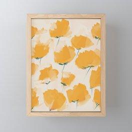 The Yellow Flowers Framed Mini Art Print