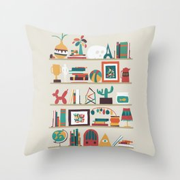 The shelf Throw Pillow