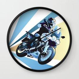 Running Motorcycle Wall Clock