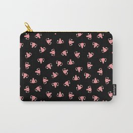 Crazy Happy Uterus in Black, Small Carry-All Pouch