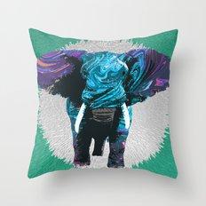 Elephant Impulse Throw Pillow