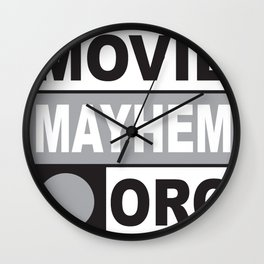 Movie Mayhem Wall Clock