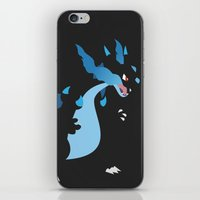 charizard iPhone & iPod Skins featuring Mega Charizard X PKMN by Rebekhaart