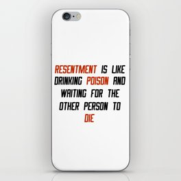 Carrie Fisher Resentment Quote iPhone Skin
