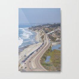 Pacific Coast Highway, California Metal Print