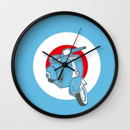 Blue Scooter Wall Clock