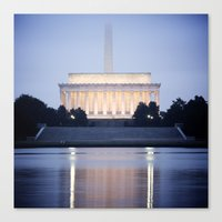 washington dc Canvas Prints featuring Washington DC by Ben Klaus Design and Photography