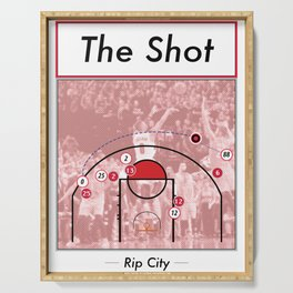 The Shot Series - Damian Lillard Serving Tray
