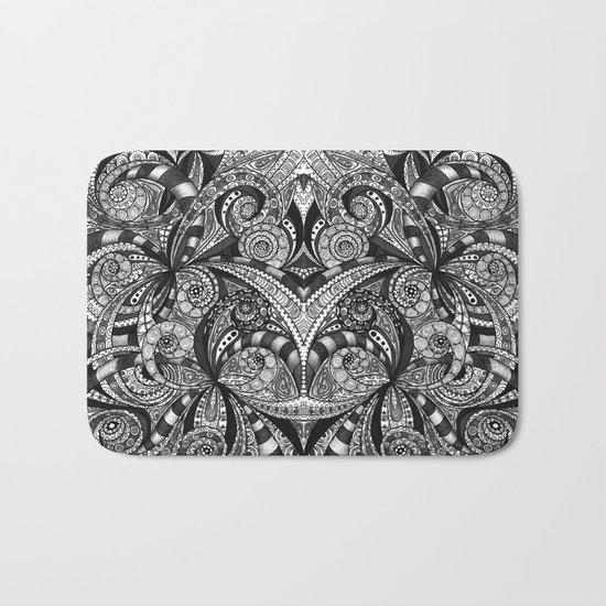 Drawing Floral Zentangle G6B Bath Mat