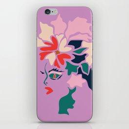 Face in Florals iPhone Skin