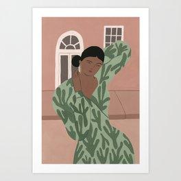An Abstract Cacti Dress Art Print