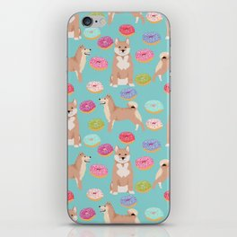Shiba inu dog breed donuts pet gifts must have pure breeds shiba inus doughnuts iPhone Skin