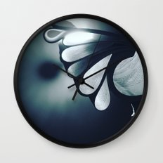 blossoming mind in blue tone Wall Clock
