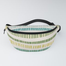 Lime Stripes Fanny Pack