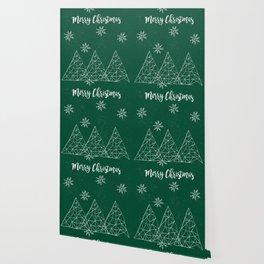 Merry Christmas Green Wallpaper