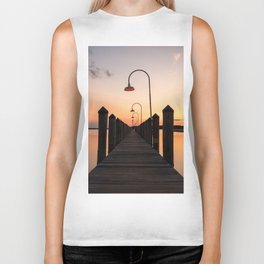 Rusty Rudder Dock Sunset Biker Tank