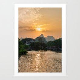 Guilin Sundown Art Print