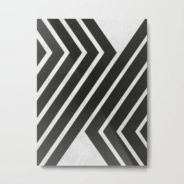 Black and White Geometric Art Metal Print