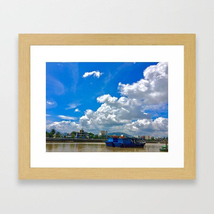 The River Bank Framed Art Print