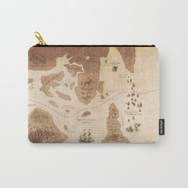The Antlered Ship_Map Endpapers Carry-All Pouch