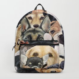 Dog All start, Dog illustration original painting print Backpack