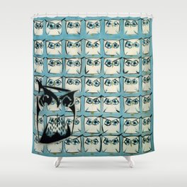 Sea of owls Shower Curtain