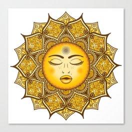 Sun Mandala Canvas Print