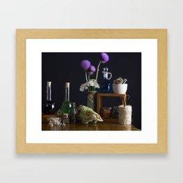 The Alchemist's Table Framed Art Print