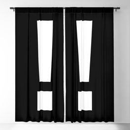 Exclamation Mark (White & Black) Blackout Curtain