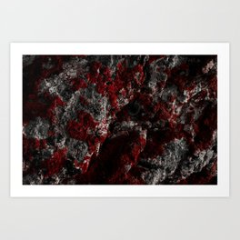 Sardinia Red Rock Art Print