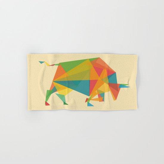 Fractal Geometric Bull Hand & Bath Towel